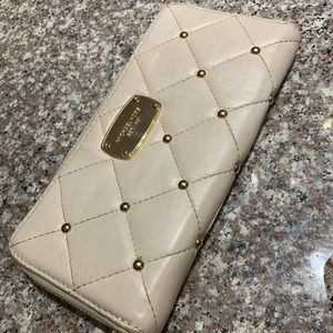 Michael Kors Hamilton quilted stud leather wallet